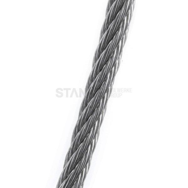 5mm Stahlseil verzinkt Drahtseil EN 12385 Stahlseile