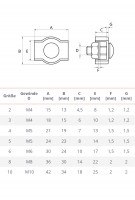 Vorschau: Simplexklemme 2 – 8 mm Drahtseilklemme Simplex Klemme verzinkt