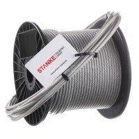 Vorschau: PVC Stahlseil 5mm (4mm Draht + 1mm PVC) 6X7 Drahtseil PVC ummantelt