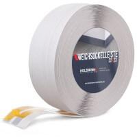 Vorschau: Weichsockelleiste selbstklebend ASCHGRAU Knickleiste Profil 32x23mm