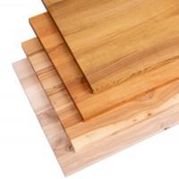 Tischplatte aus Massivholz für einen Couchtisch mit gerader Kante 60x60 cm  Esche Roh