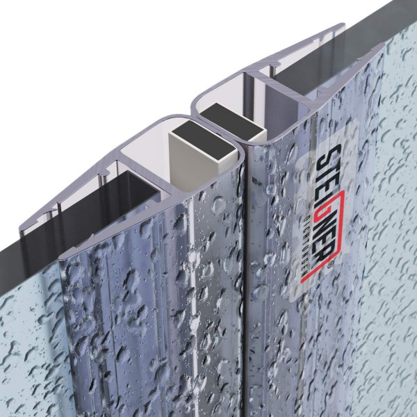 Duschdichtung Magnet Magnetduschdichtung SET 201cm UKM01 180° Grad Dichtprofil Dusche Ersatzdichtung