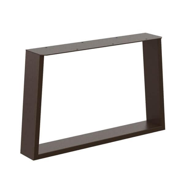 Design Tischkufen Trapez, Vierkantprofile 80x40 mm, trapezförmiges Tischgestell, Tischbeine HLT-17-B