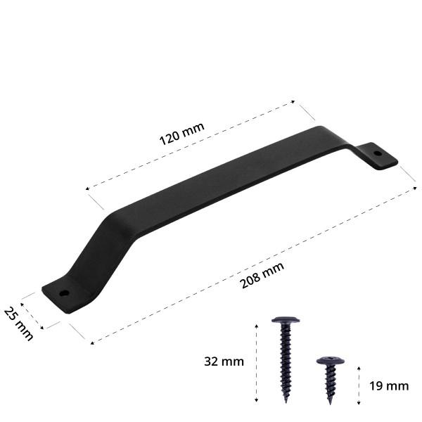 Türgriff für Schiebetür, trapezförmig, DIY-Möbel HLMG-01