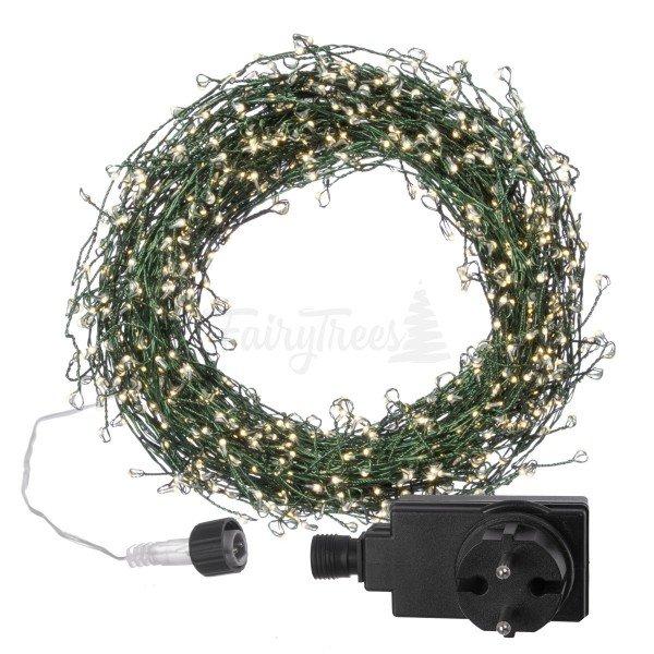 20m LED Lichterkette für Weihnachtsbaum LEDs 1000 Weihnachtsbaumbeleuchtung