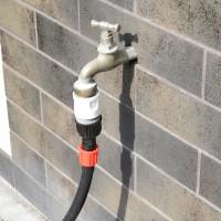 Vorschau: Anschlusssatz für Bewässerungssystem - Schnellanschluss und Verbindungsstück für Verlegerohr/Tropfsc