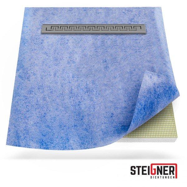 Duschelement mit Duschrinne 4-seitiges Gefälle Duschboard befliesbar inkl. Dichtfolie