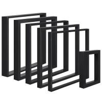 Vorschau: Design Tischkufen aus Vierkantprofilen 60x30 mm, Tischgestell, Tischbeine, 1 Stück, HLT-01-D