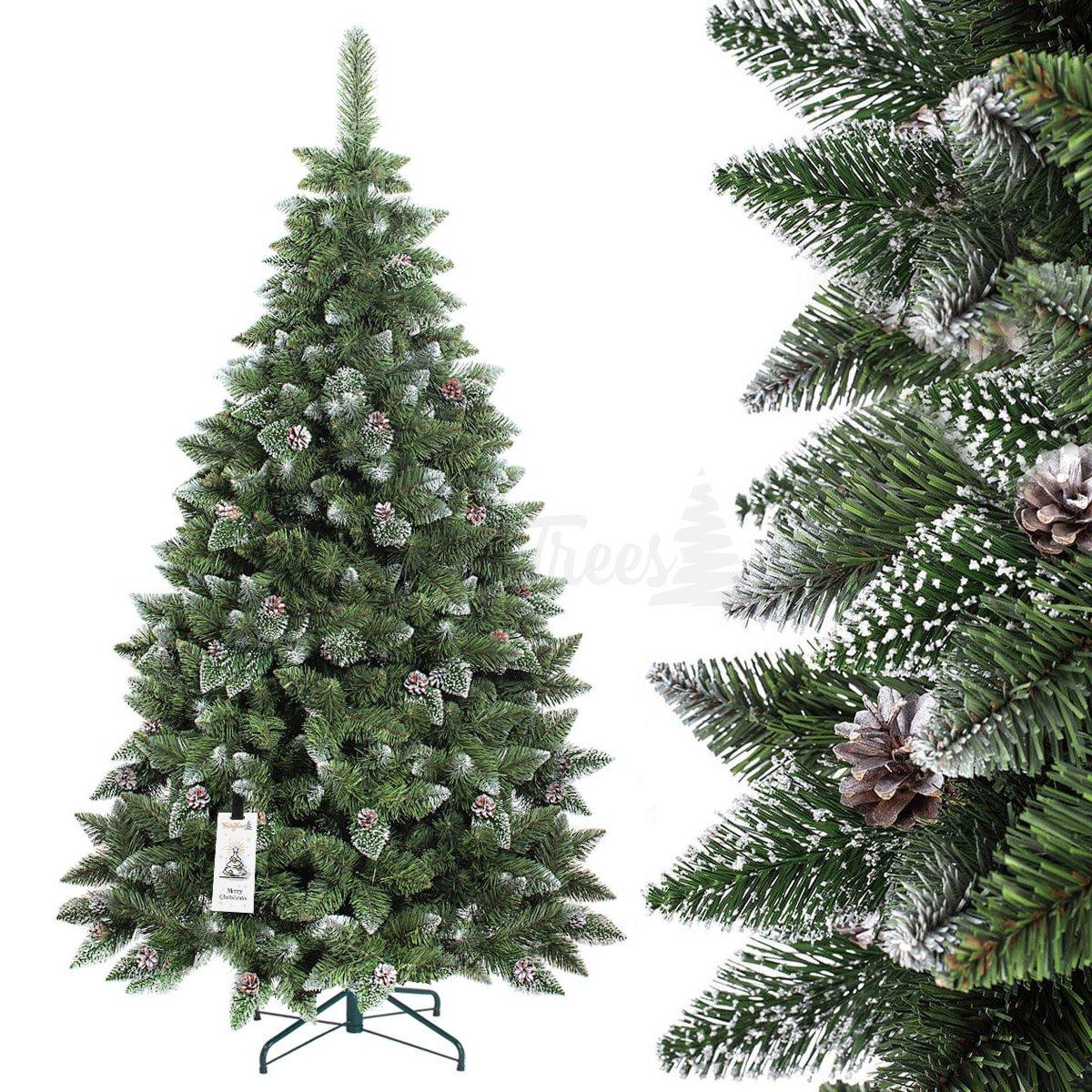 K nstlicher weihnachtsbaum kiefer natur weiss beschneit - Weihnachtsbaum kiefer ...