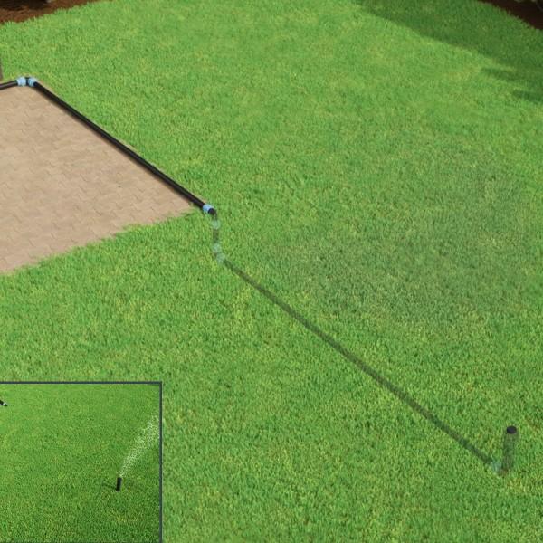Bewässerungssystem mit Versenkregner für Rasenbewässerung