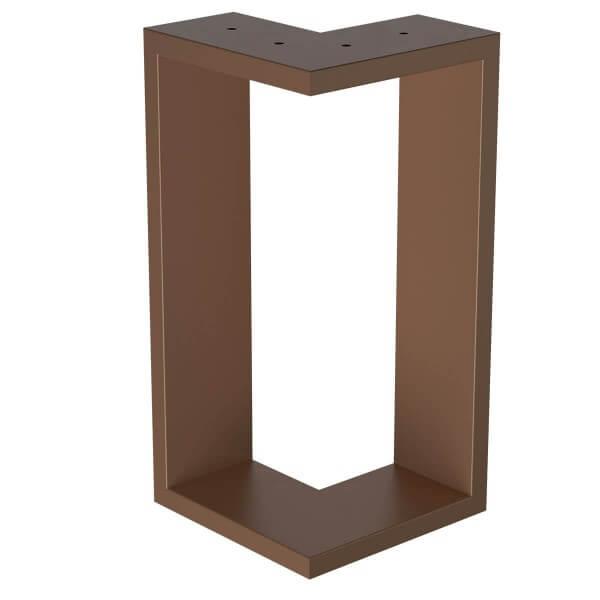 Design Tischkufen aus Vierkantprofilen 80x40 mm, V-Form, L-Form, Tischgestell, Tischbeine HLT-09-B