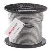 Vorschau: PVC Stahlseil 4mm (3mm Draht + 1mm PVC) 6X7 Drahtseil PVC ummantelt