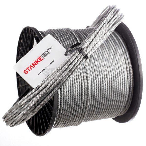 14mm Stahlseil verzinkt Drahtseil EN 12385-4 Stahlseile