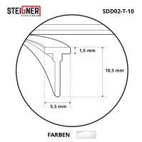 Vorschau: Duschkabinen Dichtung SDD02 Duschdichtung Silikon Wasserabweiser Silikondichtung Dusche T-Profil
