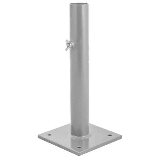Sonnenschirmständer für Bodenhülse Innendurchmesser 44 mm Perldunkelgrau