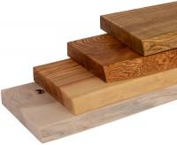 Vorschau: Wandregal ohne Montageset aus Holz mit Baumkante Holztreppe Fensterbank innen