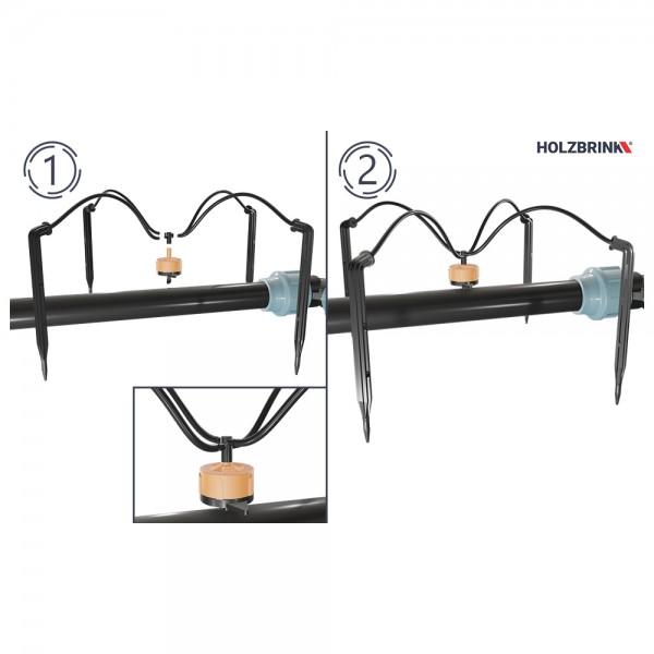 Bewässerungssystem mit Pfeiltropfer, Verlegerohr LDPE 20 mm