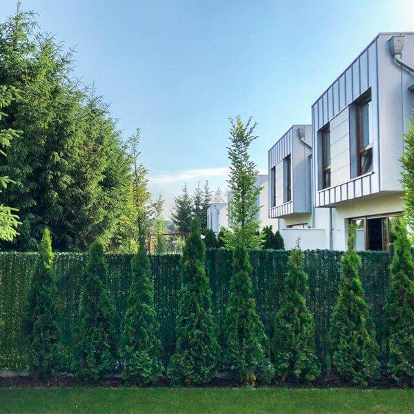 """Zaunblende Dunkelgrün """"GreenFences"""" Balkonblende für 160cm hohen Zaun / Balkon Sichtschutz Pflanze"""