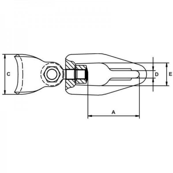 Seilgleitbügel 8mm drehbarer Gleitbügel für Chokerketten