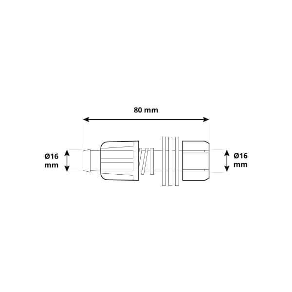 Verschlussstopfen 5/8 Zoll 16mm Endstück Verlegerohr Verschluss Tropfschlauch