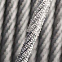 Vorschau: PVC Edelstahlseil Stahlseil 3mm (2mm Draht + 1mm PVC) 7x7 INOX V4A