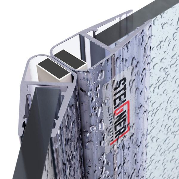 Duschdichtung Magnet Magnetduschdichtung SET 201cm UKM04 135° Grad Dichtung Fünfeck Dusche