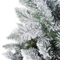 Vorschau: Künstlicher Weihnachtsbaum im Topf FICHTE NATURSTAMM mit Schneeflocken