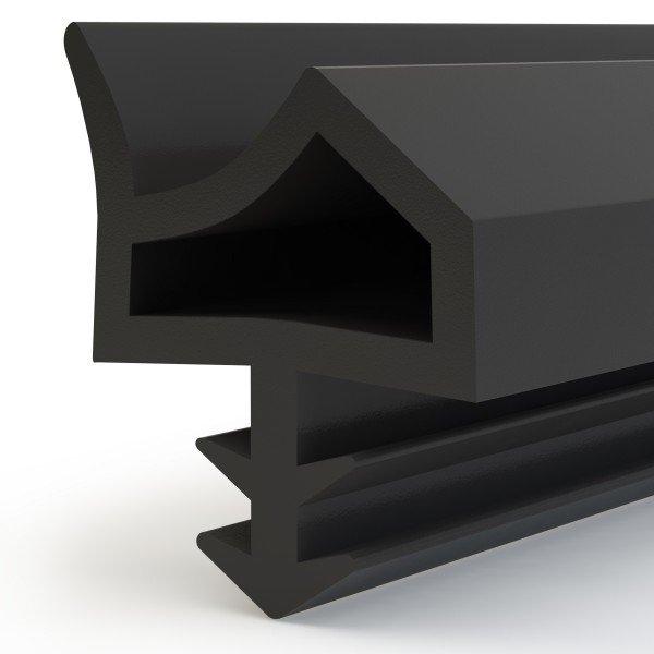 Türdichtung ZIMMERTÜRDICHTUNG Türgummi 12mm STD06 SCHWARZ Gummidichtung Dichtungen Profildichtung
