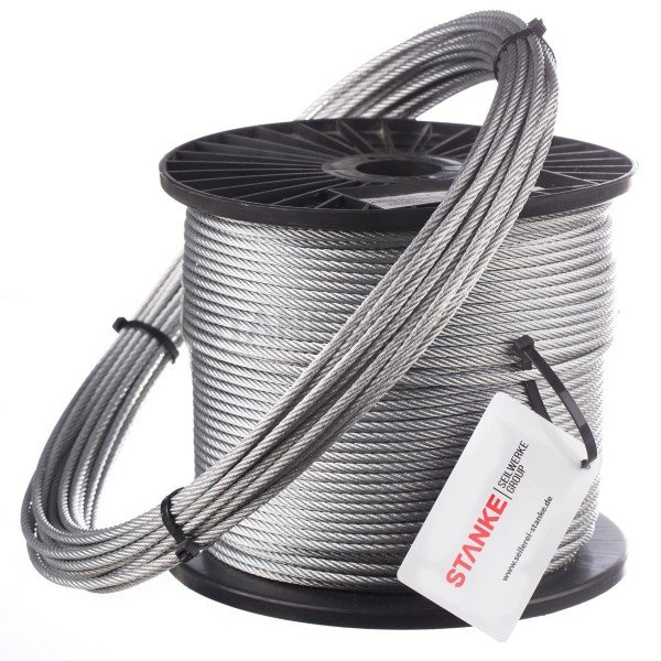 2mm Stahlseil verzinkt Drahtseil DIN3053 Stahlseile