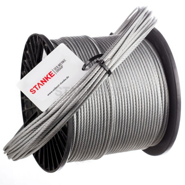 5 mm Hoch-Flexibles Drahtseil Edelstahl A4 PVC-Ummantelt für Umlenkrollen 4