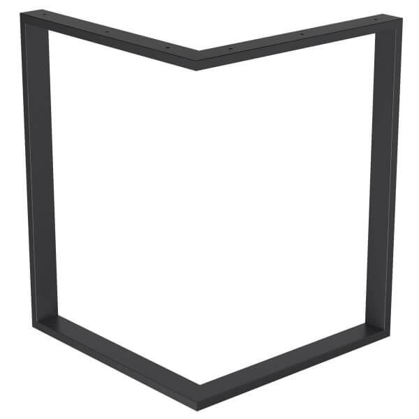 Design Tischkufen aus Vierkantprofilen 60x30 mm, V-Form, L-Form, Tischgestell, Tischbeine HLT-09-D