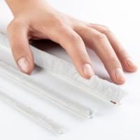 Vorschau: Bürstendichtung WEISS 4mm-20mm Türbürste selbstklebend