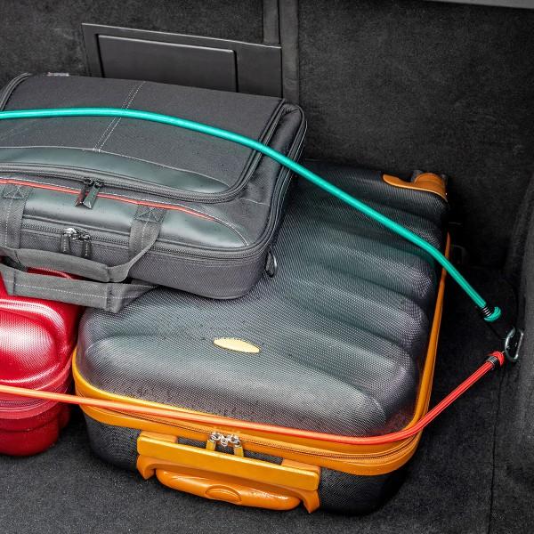 Gummiseil mit Spiralhaken zur Gepäcksicherung