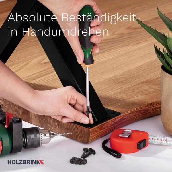 X-Tischbein aus Vierkantprofilen 60x60 mm, Tischkufen X Gestell Industriedesign, 1 Stück, HLT-03-G
