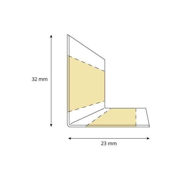 Weichsockelleiste selbstklebend SCHWARZ Knickleiste Profil 32x23mm