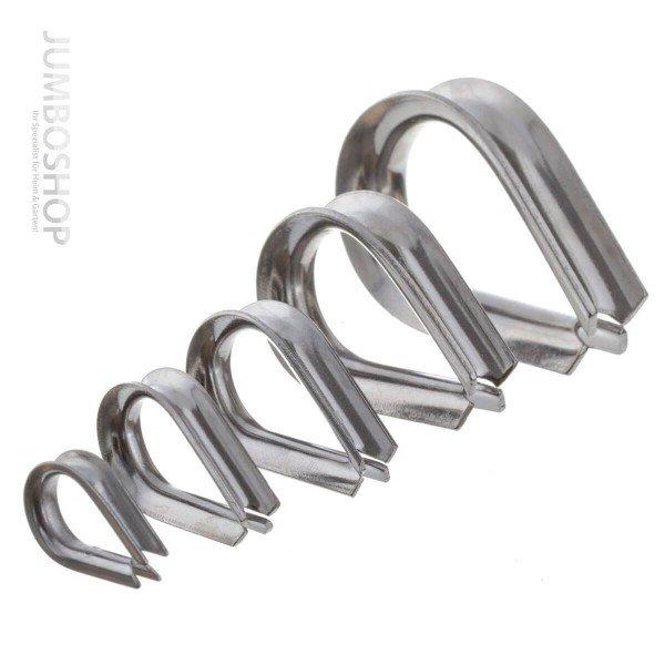 Kauschen Edelstahl  4mm Drahtseil Kausche Seilöse Seil mit Öse