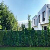 """Vorschau: Zaunblende Dunkelgrün """"GreenFences"""" Balkonblende für 120cm hohen Zaun / Balkon Sichtschutz Pflanze"""