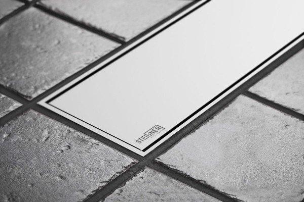 Duschelement mit Duschrinne MINERAL PLUS 4-seitiges Gefälle Duschboard befliesbar