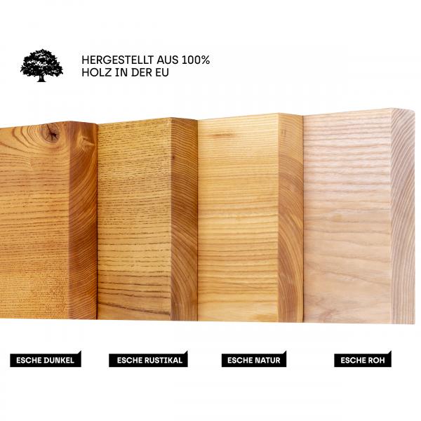 Wandregal ohne Montageset aus Holz mit gerader Kante