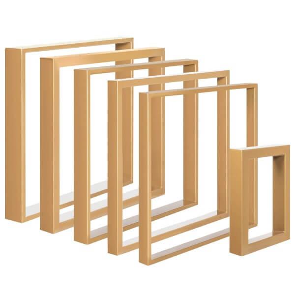 Design Tischkufen aus Vierkantprofilen 80x40 mm, Tischgestell, Tischbeine HLT-01-B