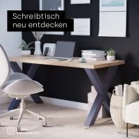 Vorschau: 2 Tischbeine im Set für Esstisch oder Schreibtisch, Höhe 72 cm