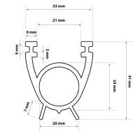 Vorschau: Garagentor Dichtung Bodenabdichtung Gummilippe SBD01 33 x 41 mm