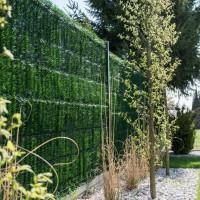 """Vorschau: Zaunblende Dunkelgrün """"GreenFences"""" Balkonblende für 110 cm hohen Zaun / Balkon Sichtschutz Pflanz"""