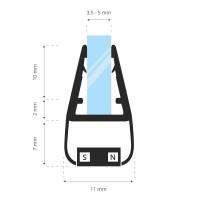 Vorschau: 2m Duschdichtung UKM01 magnetisch wasserabweisend Magnetdichtung UPS