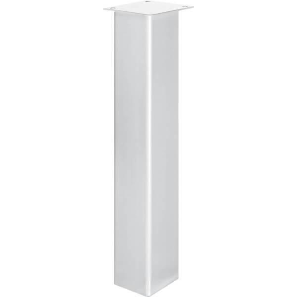 Tischbein Eckig, Möbelfuß aus Stahl, Quadratrohr 100x100 mm, Industriedesign, HLT-14B-K