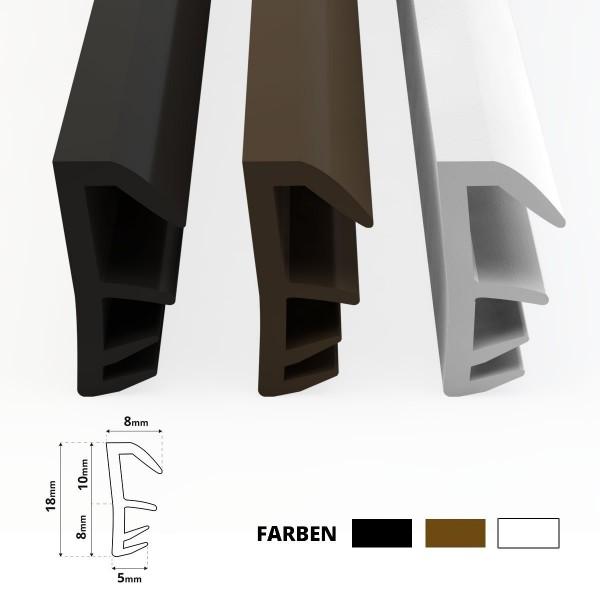 Flügelfalzdichtung für Fenster und Tür SFD-14 Braun