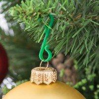 Vorschau: Weihnachtsbaum Kugelaufhänger PVC Aufhänger für Weihnachtskugeln - 30er Pack
