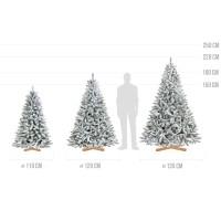 Vorschau: künstlicher Weihnachtsbaum FICHTE Natur-Weiss mit Schneeflocken