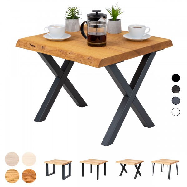 Kaffeetisch mit Baumkante 60x60x47 cm