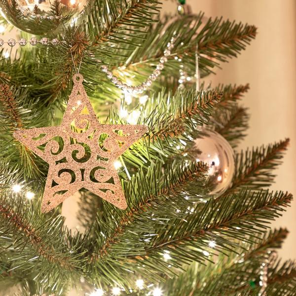 künstlicher Weihnachtsbaum SLIM Kiefer Natur-Weiss beschneit